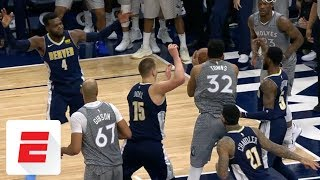 Karl-Anthony Towns pulls down clutch rebound to help Timberwolves end playoff drought | ESPN