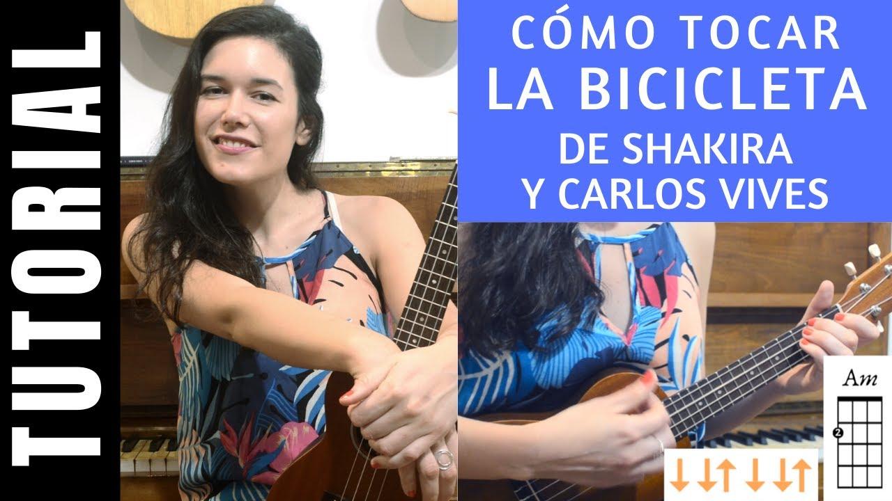 cómo tocar LA BICICLETA de SHAKIRA y CARLOS VIVES en ukelele tutorial