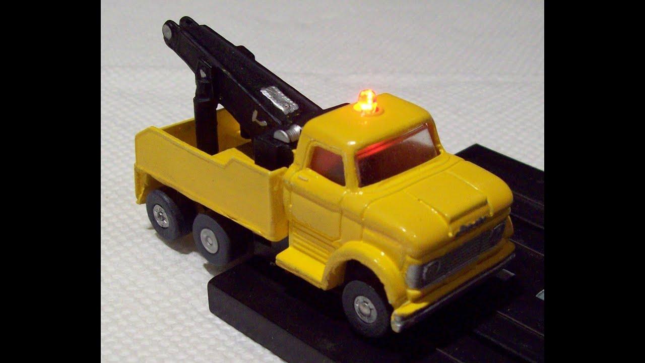custom 1967 ford n 1000 d tow wrecker truck slot car flashing led in