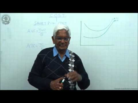 Average Cost and Marginal Cost Class XII Economics by S K Agarwala