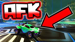 PRO TEAMMATE AFK'S MID GAME!! ( Road to Grand Champion - Rocket League )