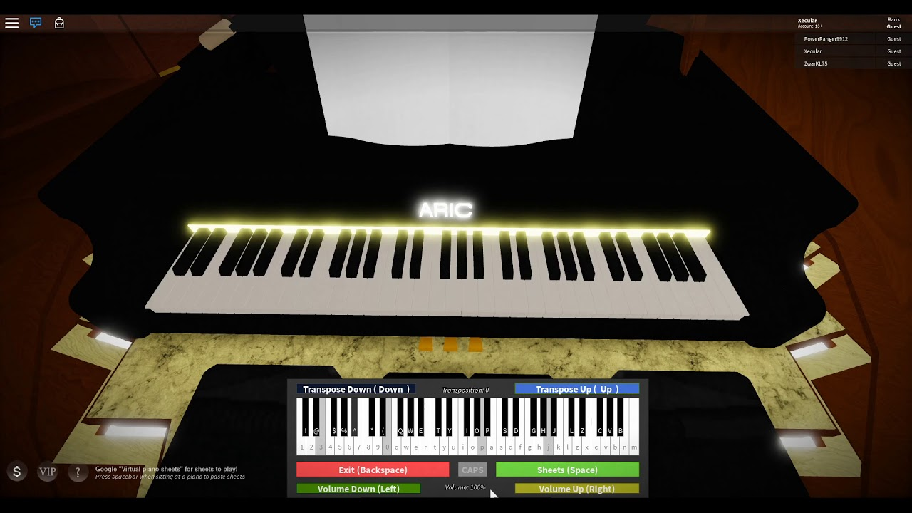 Playing Sincerely True On Piano Roblox By Xecular Official