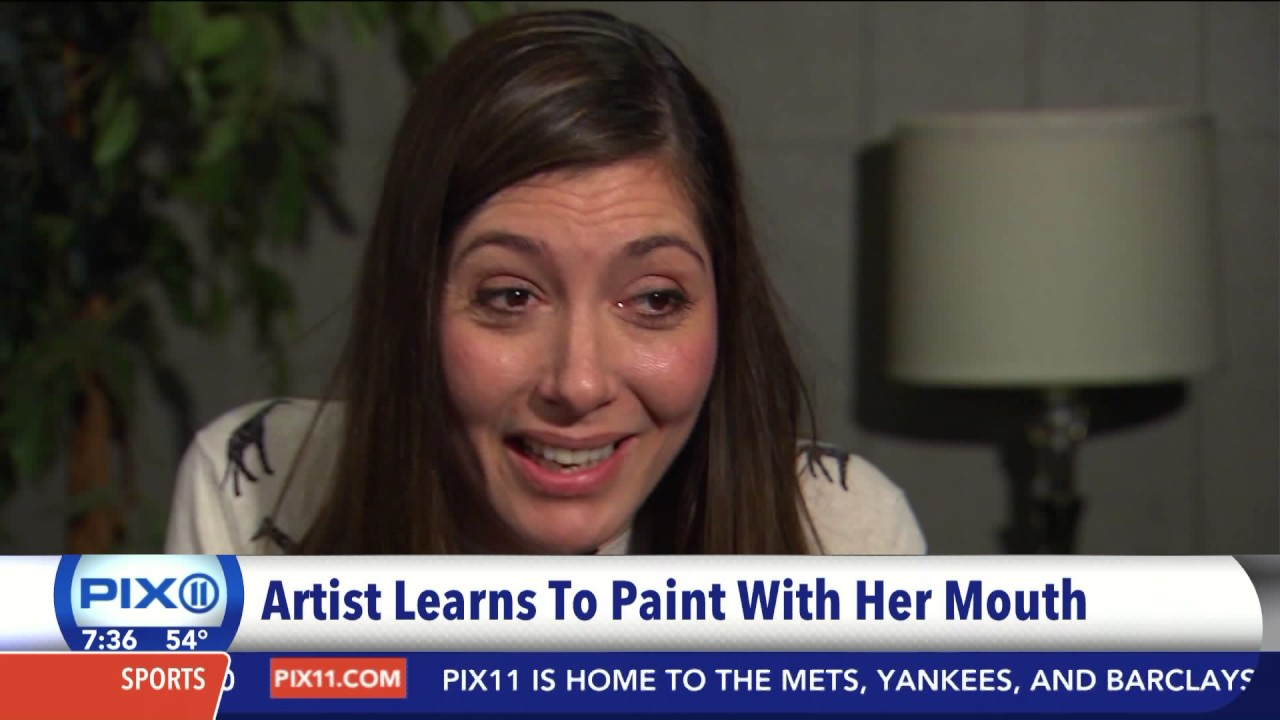 Artist Paints Using Her Mouth After Shooting Paralyzes Her Hands