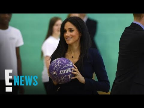 Meghan Markle Does Basketball Drills in Stilettos | E! News