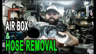 Stock Air Box and Hose Removal for Honda Shadow VT600 and VT750