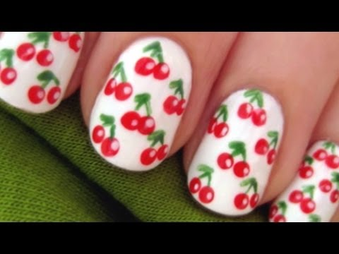Cherry Covered Nails