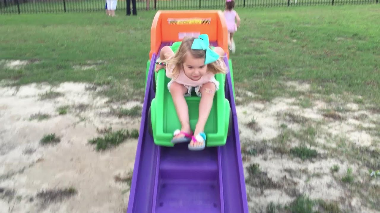 extreme roller coaster by step 2 backyard brooke and azlynn show
