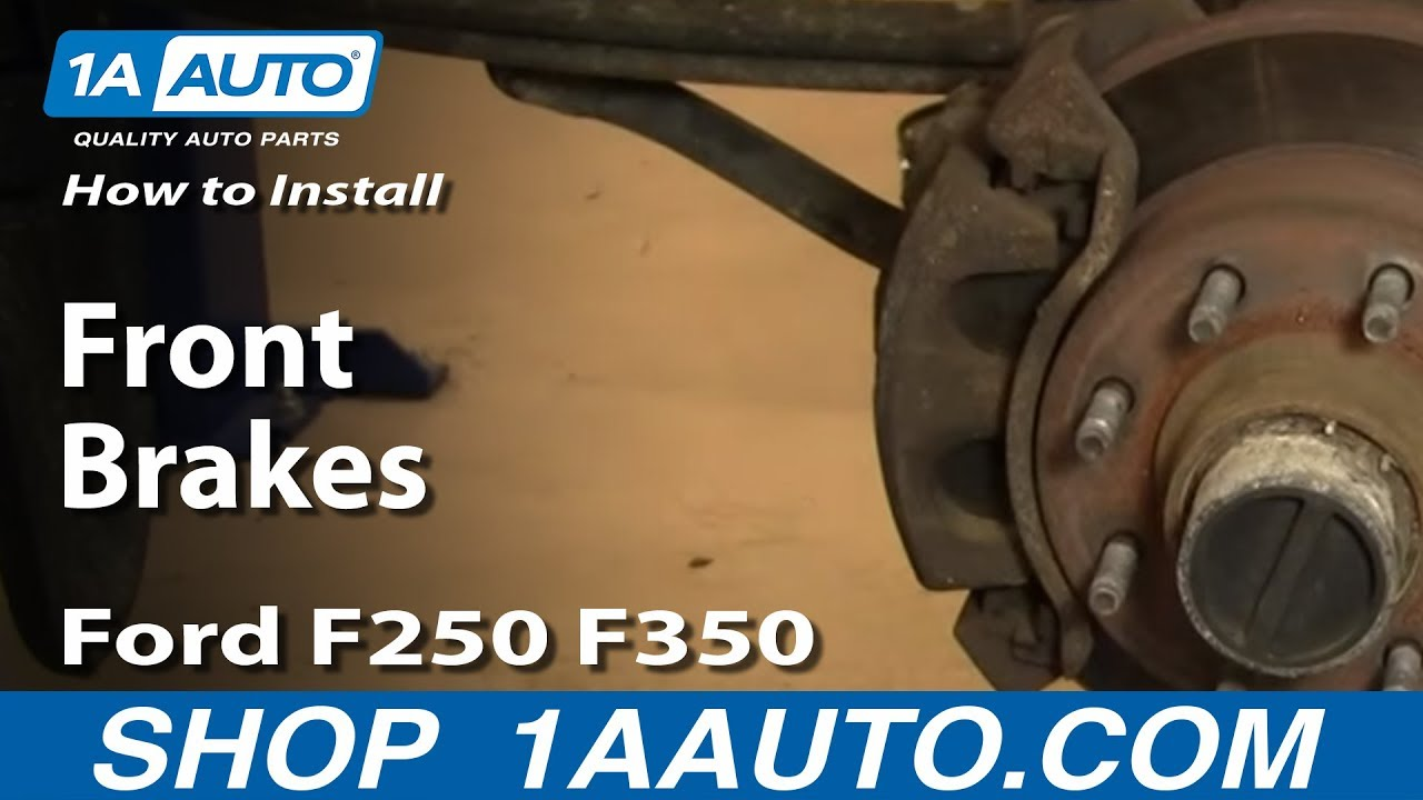 how to replace front brakes 00 04 ford f250 super duty truck [ 1280 x 720 Pixel ]