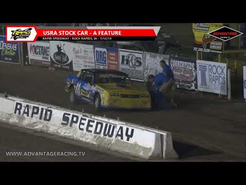 Stock Car Feature - Rapid Speedway - 7/12/19