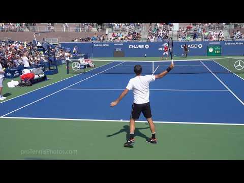 Roger Federer V. Dominic Thiem, 2019 US Open Practice, 4K