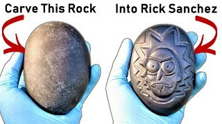 I Carve Rick Sanchez into a Rock! (New T-shirts and other shenanigans)