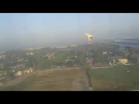 Shaheen Air NL 762 , From Dubai - Multan .  Landing at Multan International Airport.