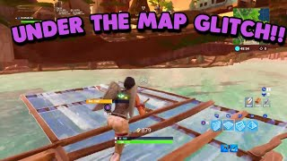 *NEW* UNDER THE MAP GLITCH IN FORTNITE! (Fortnite Battle Royale)