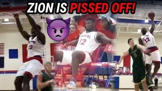 They Went HACK-A-ZION!! Zion Williamson Gets Mad At Other Team & TAKES OVER 😡