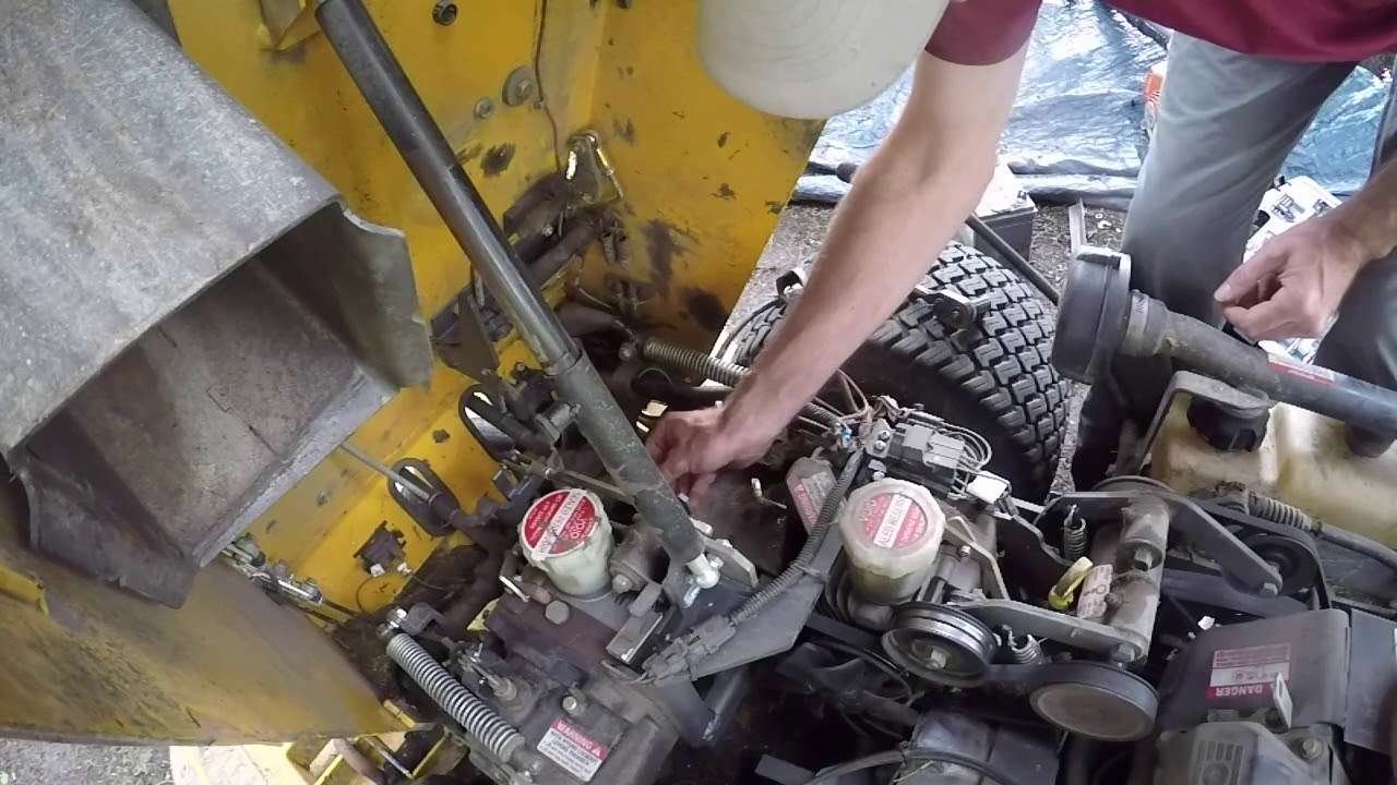 walker mower  fixing the extension spring and a fan