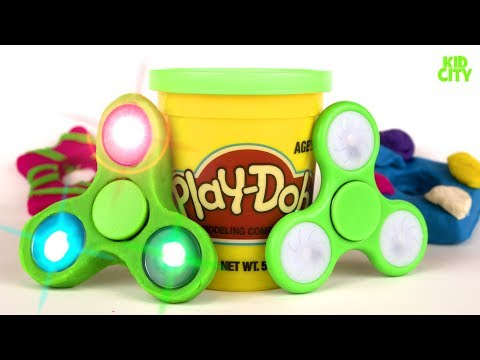 DIY Play-Doh Fidget Spinners #2 / How to Make Fidget Spinner Toys for Kids