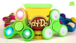 DIY Play-Doh Fidget Spinners #2 / How to Make Fidget Spinner Toys for Kids
