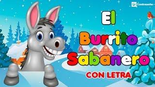 Mi Burrito Sabanero con letra, El Burrito de Bélen, Villancicos Musica Navideña, Feliz Navidad, kids