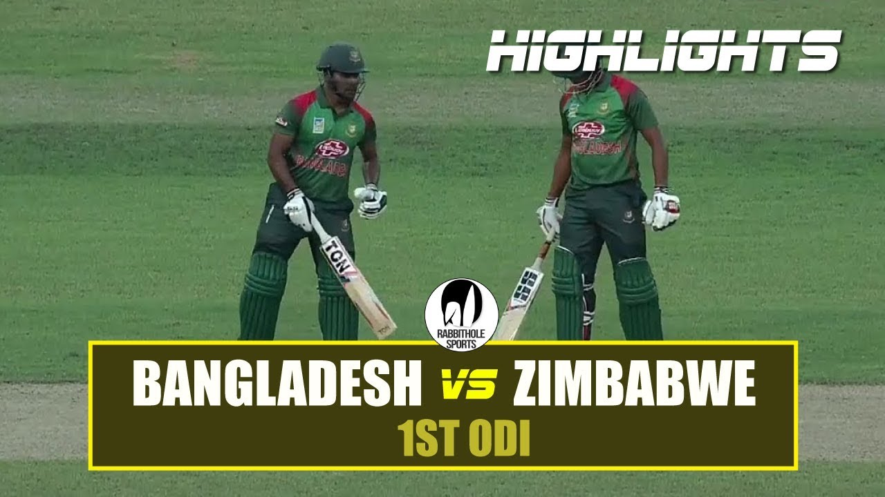 Bangladesh vs Zimbabwe Highlights || 1st ODI Highlights || Zimbabwe tour of Bangladesh 2018