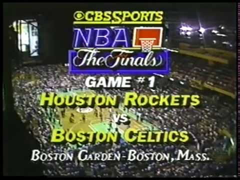 1986 NBA on CBS - Rockets vs Celtics - Finals Game 1 Intro