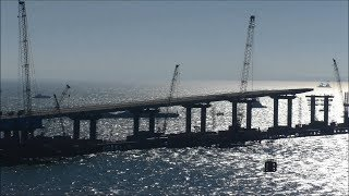 Строительство Керченского моста (октябрь, 2017).