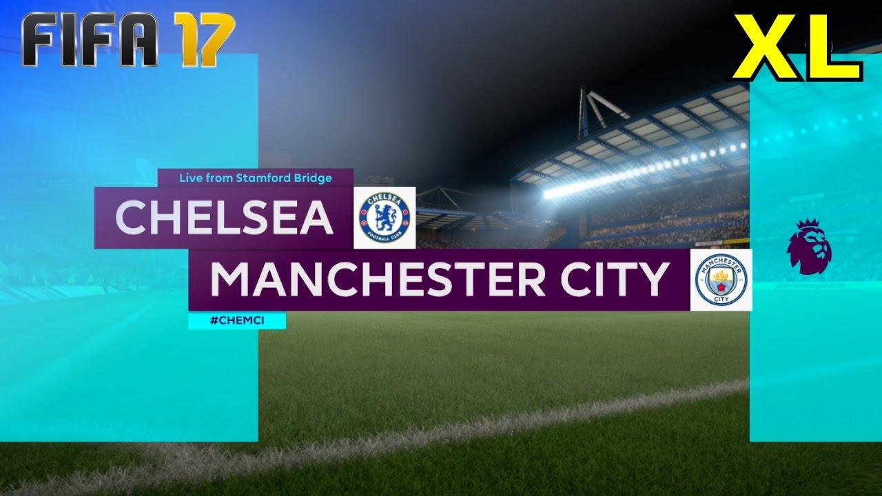FIFA 17 - Chelsea vs. Manchester City @ Stamford Bridge (XL Match) - YouTube