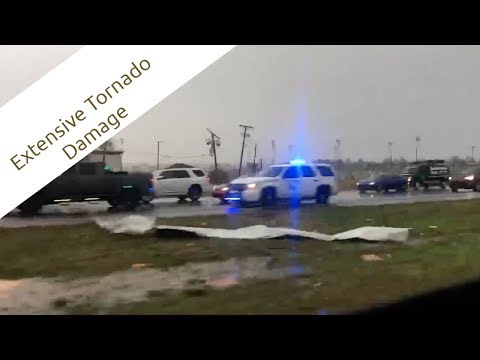 Extensive Tornado Damage - Alexandria, Louisiana