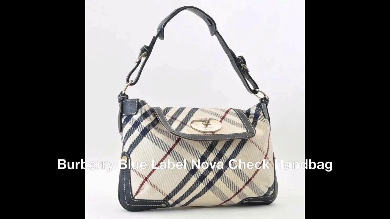 f4e1adcc07a0 Authentic Burberry Blue Label Nova Check Handbag - YouTube