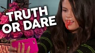 "More celebrity news ►► http://bit.ly/subclevvernews selena gomez plays a fun game of clevver ""truth or scare"" to celebrate the premiere her new movie hote..."