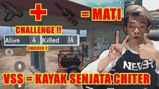 CHALLENGE UZI + VSS = INI SENJATA CHITERRR !!! = PUBG M