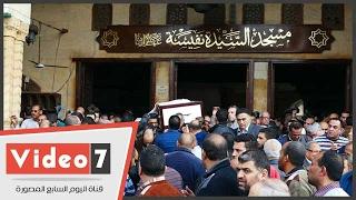 تشييع جنازة فاروق الرشيدى من مسجد السيدة نفيسة بحضور أشرف زكى
