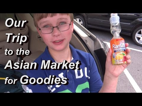 Our Trip to the Asian Market with Jay - He Reviews Ramune Soda & Soda Candy for You