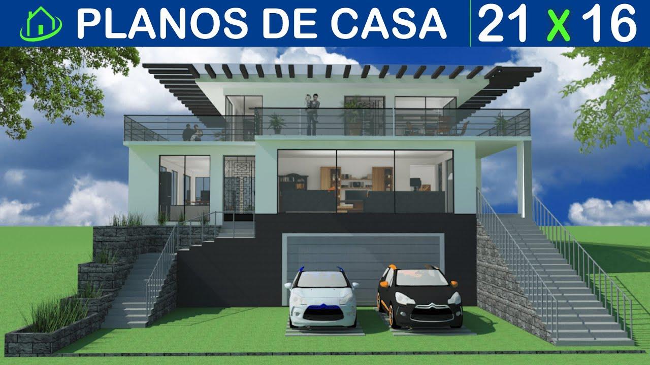 Dise os y planos de casas 2 pisos minimalista proyecto for Proyectos casas minimalistas