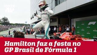 Hamilton faz a festa no GP Brasil de Fórmula 1   Máquinas na Pan