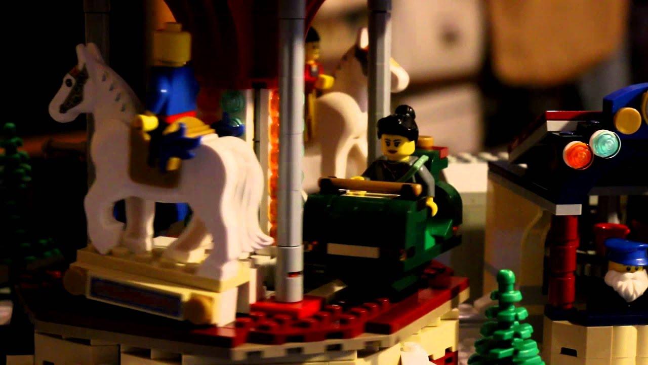 Lego Weihnachtsmarkt.Lego 10235 Weihnachtsmarkt Karussell Mit Elektroantrieb Winter Village Market Motorized