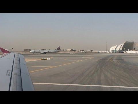 Qatar Airways  Flight Report    Doha DOH to Baku GYD    Economy Class A320 ✈