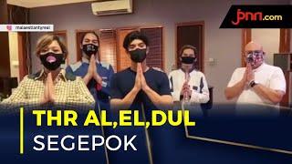 Irwan Mussry dan Maia Estianty Bagi-Bagi THR Segepok untuk Al, El dan Dul - JPNN.com
