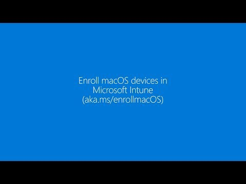 Enroll your macOS device in Microsoft Intune