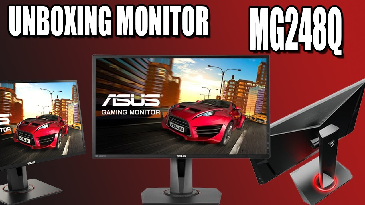 Unboxing Monitor Asus Mg248q 144hz 1ms Youtube