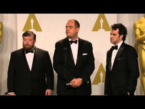 Oscars: Craig Mann, Ben Wilkins & Thomas Curley Backstage  2015
