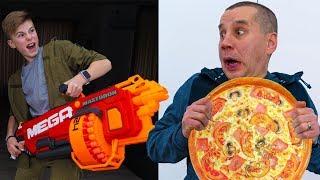 NERF- Pizza...ОТЖАЛ-поплатился за ОБМАН. Paid for cheating...