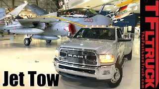 How to Tow a U.S. Navy EA-6B Prowler Jet with 2016 Ram 3500 HD?