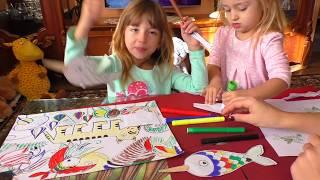 Как РИСОВАТЬ🎨 УРОК рисования для ДЕТЕЙ от 3 лет🎭 РАСКРАСКА для детей