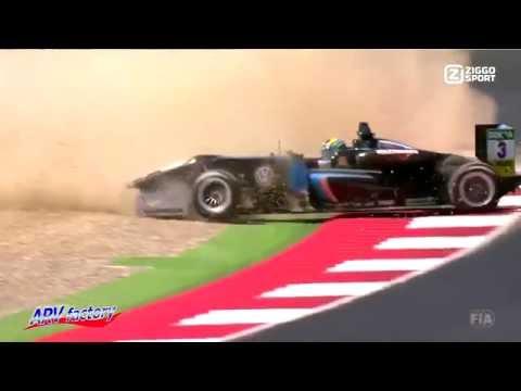 Peter Li Zhi Cong Big Crash 2016 F3 Spielberg Race1