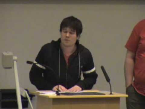 Societies and Sports Clubs Hustings - Question.wmv