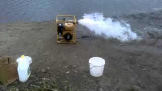 видео Мотопомпа для чистой воды Robin-Subaru PTX401