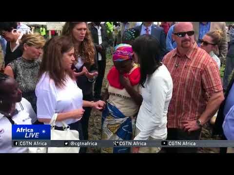 D.R. Congo Peace: U.S. envoy Haley visits to DRC displaced camp