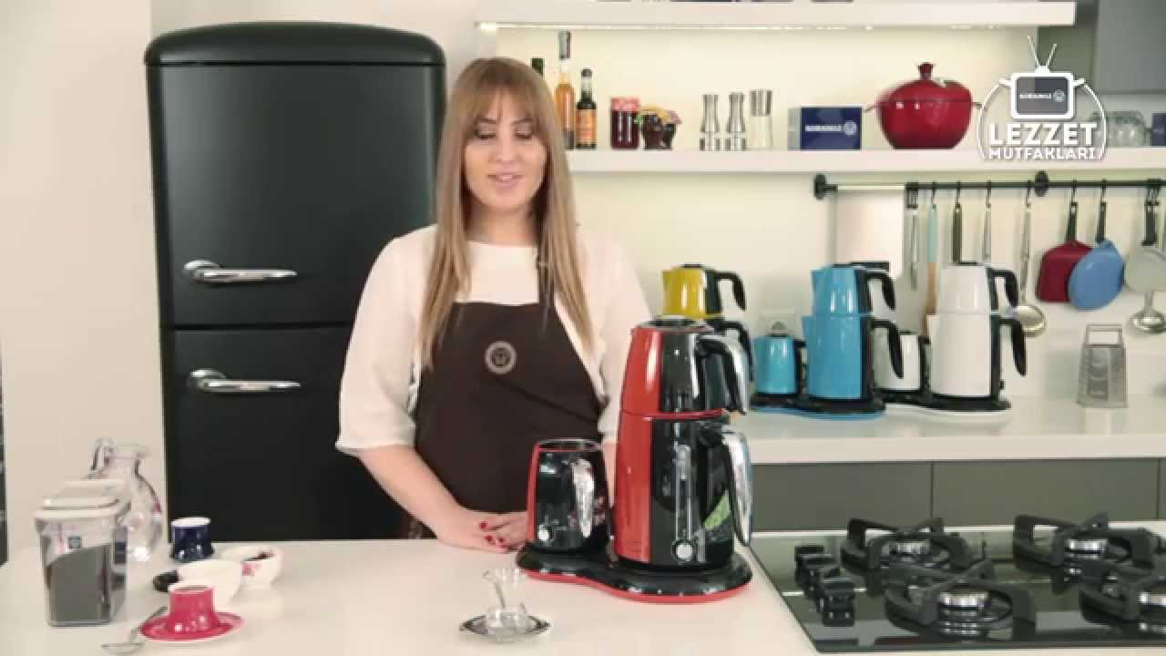 Korkmaz Mia İnox - Siyah Elektrikli Çay Kahve Makinesi A353 - Alkapida.com