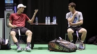 Practise time: Andy Murray & Tomas Berdych