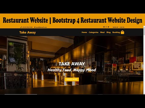 Restaurant Website | Responsive Restaurant Website | Restaurant Web Page Design Using Bootstrap